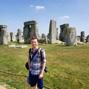 Jacob Horn in front of Stonehenge
