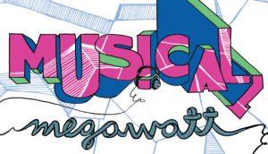 Musical Megawatt logo with headphones