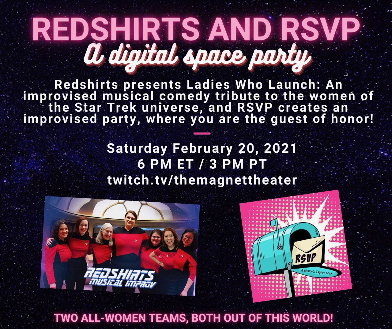 Red Shirts and RSVP: A Digital Space Party